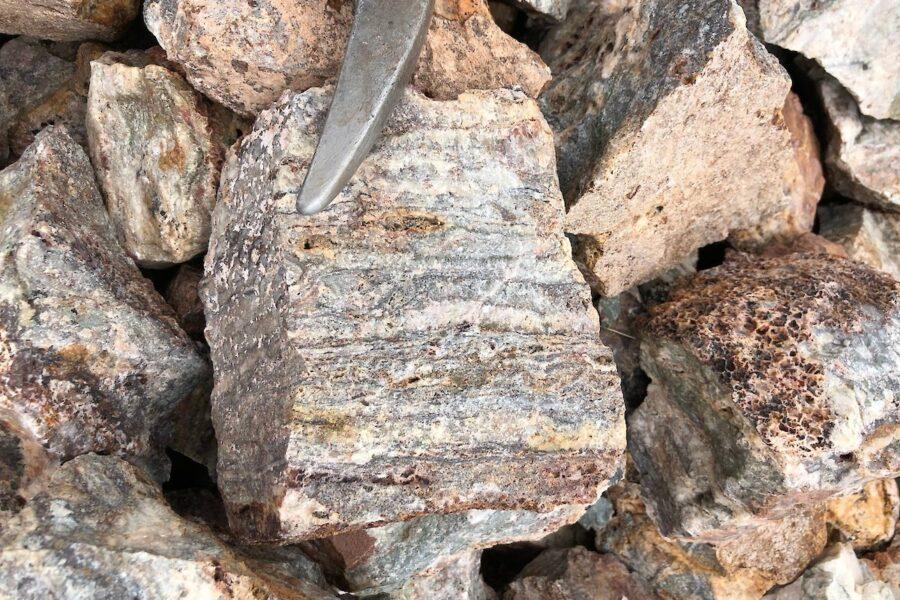 Banded rocks